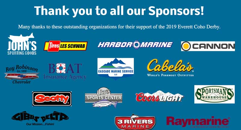 Everett Coho Derby Fishing Sponsors