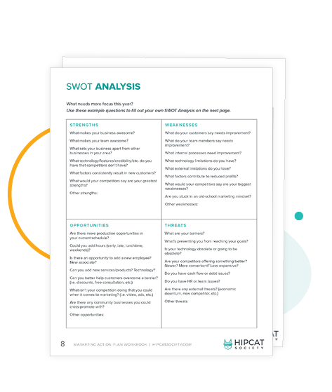 Preview of SWOT Analysis in the Workbook