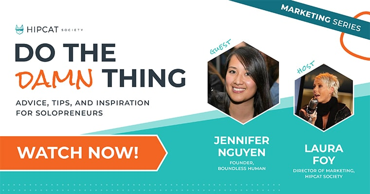 Graphic of Jennifer Nguyen from Boundless Human on Do The Damn Thing