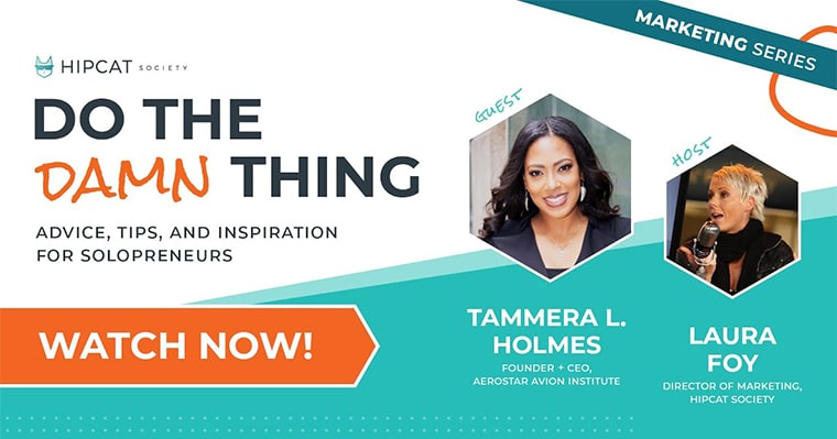 Graphic of Tammera Holmes with Aviation and Inspiration on Do The Damn Thing