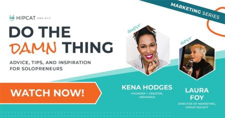 Graphic of Kena Hodges with Kena Unmasked on Do The Damn Thing
