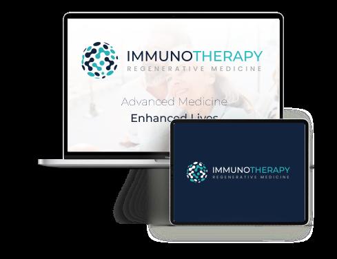 Screenshot of Immunotherapy's website