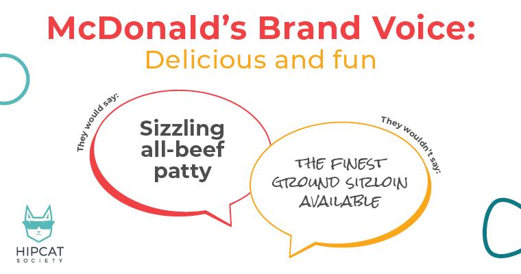 Text describing how McDonald's has a distinct Brand Voice