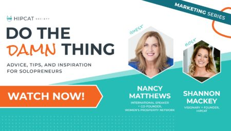 Graphic of The One Philosophy with Nancy Matthews on Do The Damn Thing